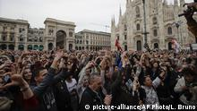 Italien Anti-Rassismus Protest in Mailand