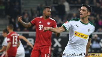 Bundesliga - Borussia Moenchengladbach gegen Bayern München Tor zum 1:2 (picture alliance/dpa/I. Fassbender)