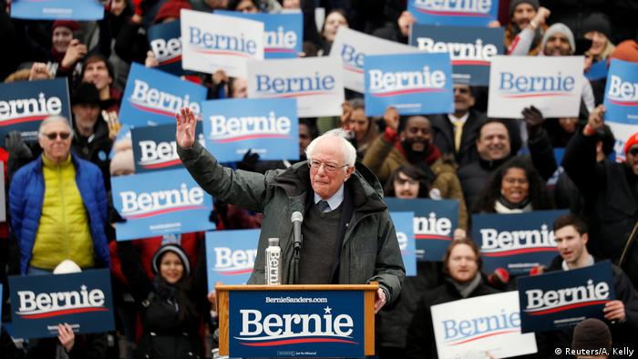 USA, New York: Bernie Sanders beim Wahlkampf Auftakt in Brooklyn (Reuters/A. Kelly)