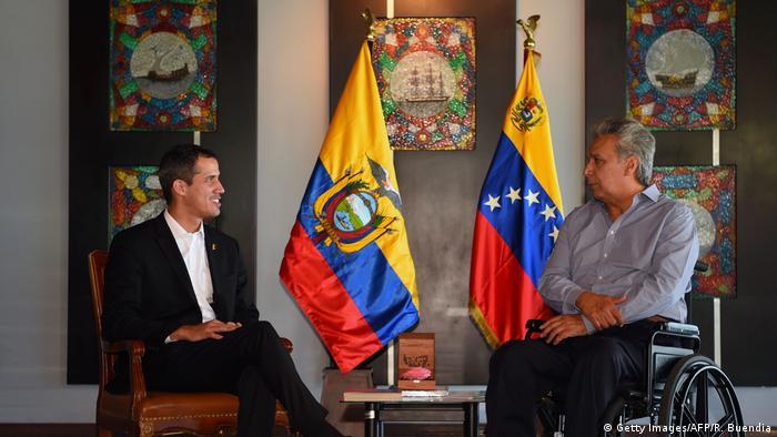Ecuador, Salinas: Juan Guaido und Lenin Moreno