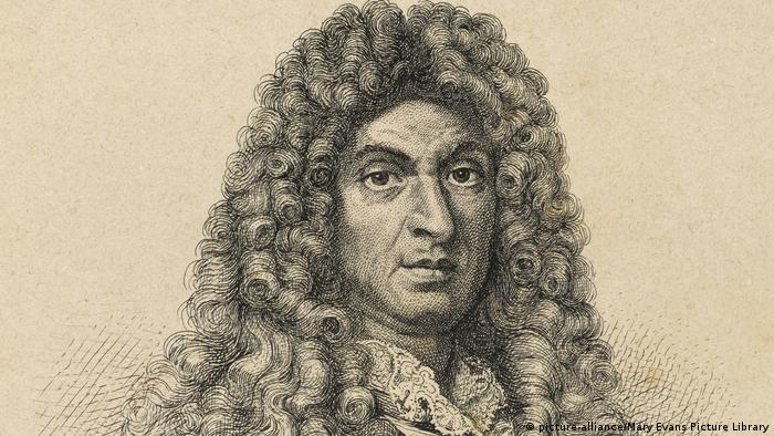 Engraving of Jean-Baptiste Lully exhibiting a haughty manner (picture-alliance/Mary Evans Picture Library)