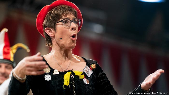 Annegret Kramp-Karrenbauer in a Carnival costume