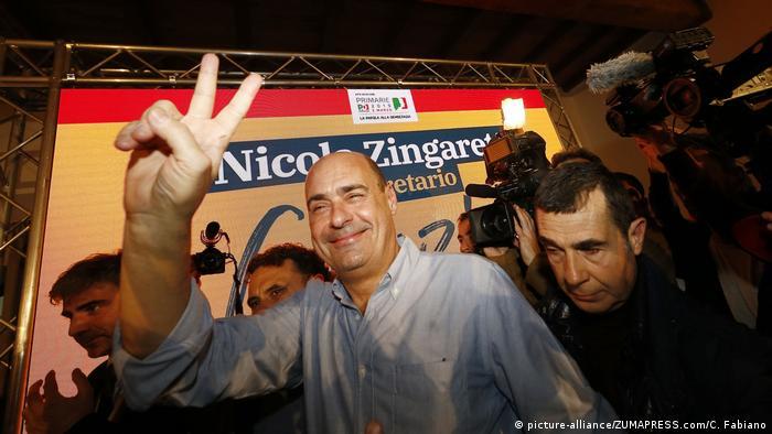 Vorwahlen PD Italien   Neuer Vorsitzender Nicola Zingaretti