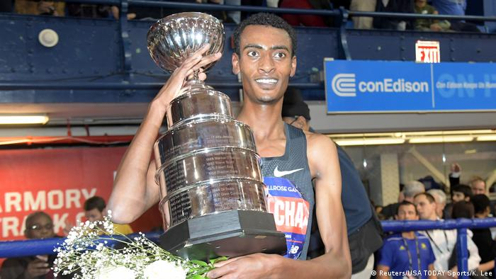 USA 112. Millrose Games | Yomif Kejelcha aus Äthiopien (Reuters/USA TODAY Sports/K. Lee)