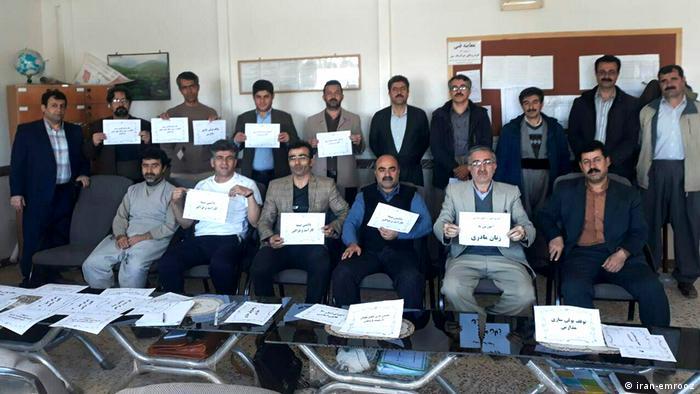 Sitzstreik der Lehrer im Iran (iran-emrooz)