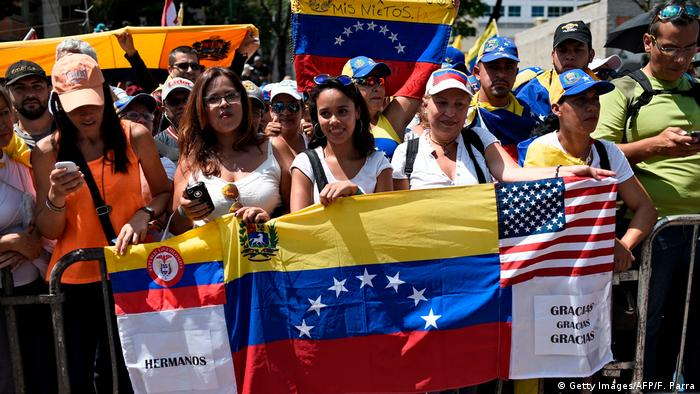 Some Guaido supporters also thanked the US for its support