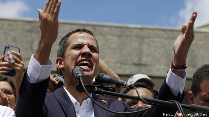 Politische Krise in Venezuela Juan Guaido Kundgebung in Caracas