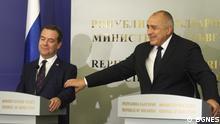 Bulgarien Medwedew zu Besuch bei Borissov in Sofia