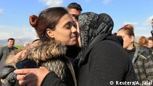Irak Duhok - Yazidi überlebenden treffen Verwandte nach Freilassung vom IS in Syrien