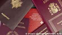 verschiedene Reisepässe Reisepass