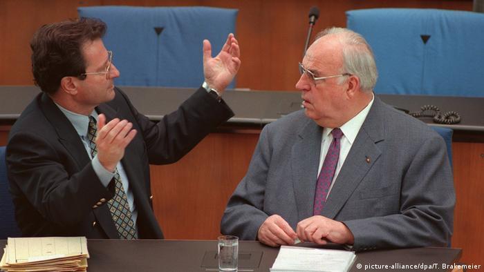 Klaus Kinkel i Helmut Kohl