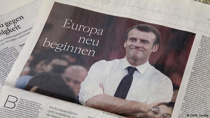 Macron newspaper article