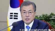 Südkorea Seoul - Präsident - Moon Jae-in bei Sitzung des Nationalem Sicherheitsrates