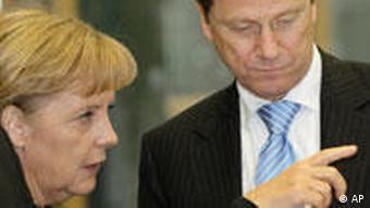 Bundeskanzlerin Angela Merkel und FDP Chef Guido Westerwelle