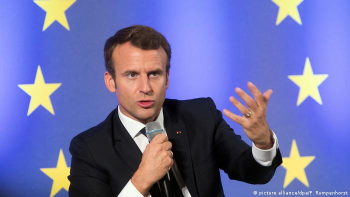 Frankreich - Präsident Macron - Europa (picture alliance/dpa/F. Rumpenhorst)