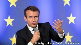 Макрон: Протистояння між тими, хто вірить у Європу, й тими, хто в неї не вірить