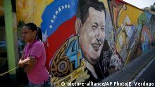 Venezuela Jahrestag des Todes von Hugo Chavez in Caracas