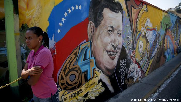 Venezuela: Hugo Chavez (mural) in Caracas