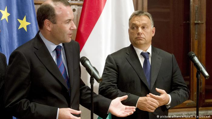Ungarn Manfred Weber und Viktor Orban