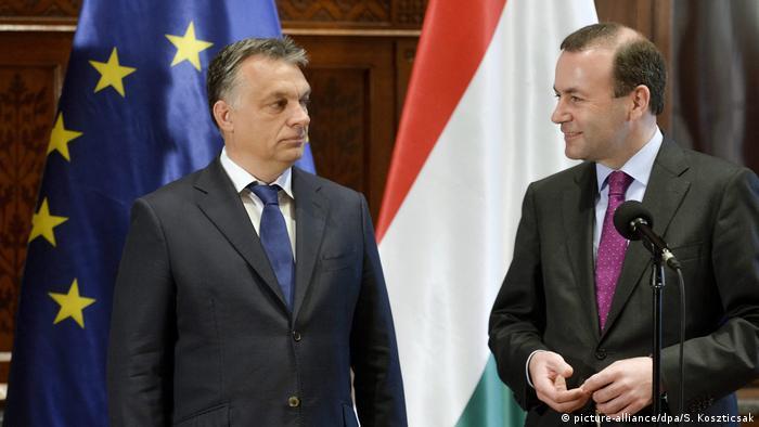 Manfred Weber and Viktor Orban