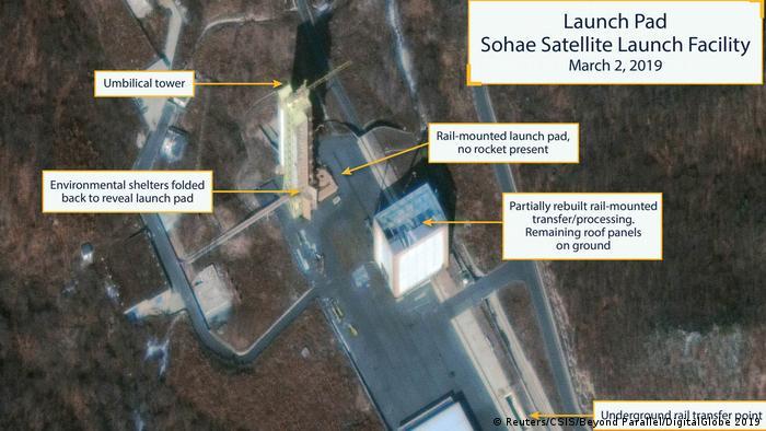 Nordkorea Satellitenbild Raketenanlage Sohae