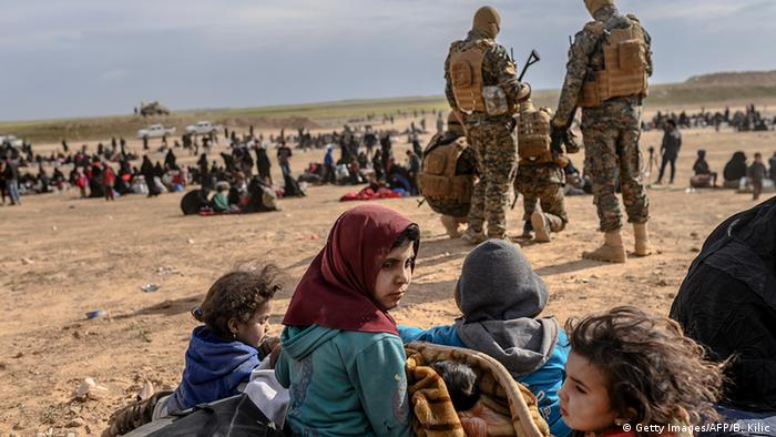 Civilians evacuated from the Islamic State's holdout of Baghouz(Getty Images/AFP/B. Kilic)