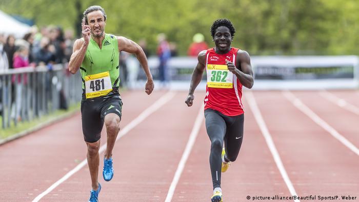 Daniele Biffi i Dennis Lux na trkaćoj stazi