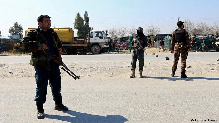 Афганские силовики в Джелалабаде