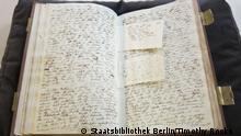 c. Staatsbibliothek Berlin/ Foto: Timothy Rooks ((Siehe CMS Bild 46706338)) Schlagwörter: Alexander von Humboldt, Tagebücher, Staatsbibliothek Berlin, Süd Amerika
