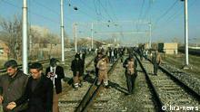 Sitzstreik der Eisenbahnarbeiter in Iran