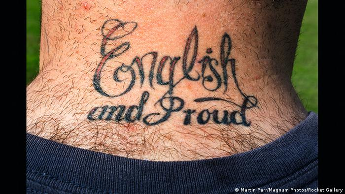 A tattooed neck English and Proud Martin Parr | Bad Fallingbostel army base (Martin Parr/Magnum Photos/Rocket Gallery)