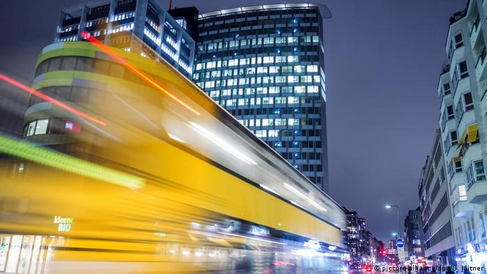 Автобус маршрута M29 в Берлине