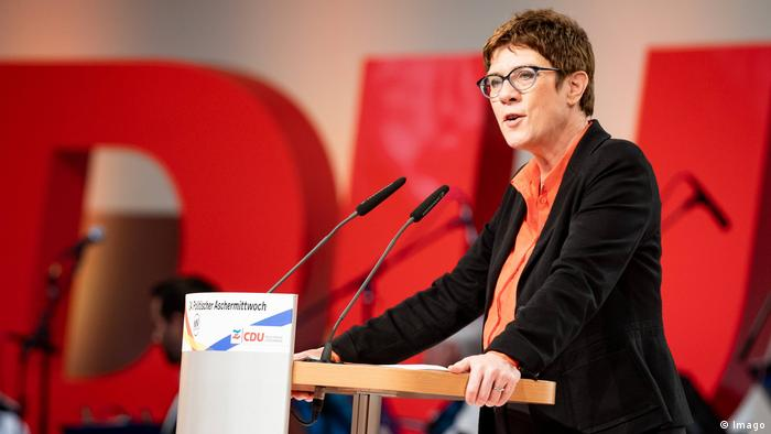 Annegret Kramp-Karrenbauer speaks