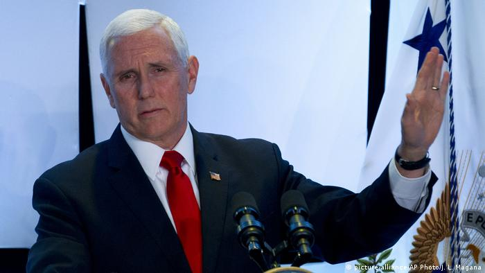 USA Vizepräsident Mike Pence in Washington (picture-alliance/AP Photo/J. L. Magana)