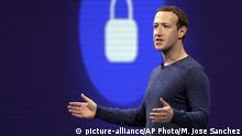 USA San Jose Mark Zuckerberg
