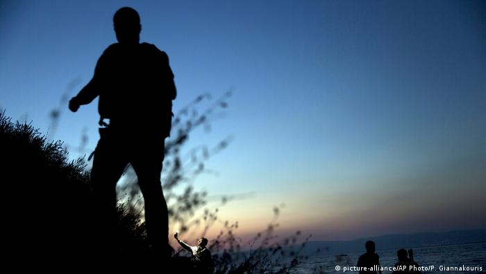 Silhouette of a migrant