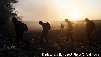 Serbien Flüchtlinge an der Grenze zu Kroatien (picture-alliance/AP Photo/D. Vojinovic)