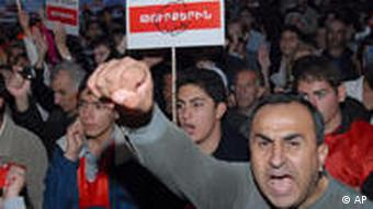 Demonstranten in Armenien (Foto: AP)