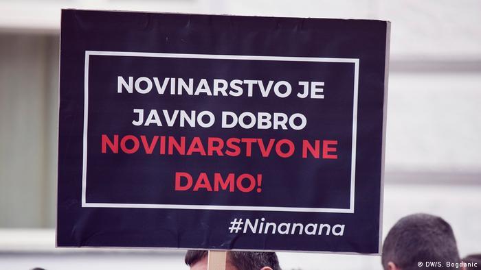 Kroatien Zagreb - Proteste für Medienfreiheit und gegen den Druck auf die Journalisten