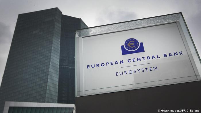 Deutschland - European Central Bank ECB l Europäische Zentralbank EZB in Frankurt (Getty Images/AFP/D. Roland)