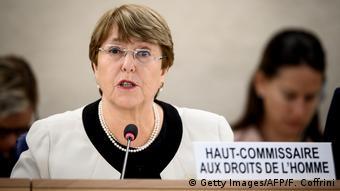 La Haut-Commissaire aux droits de l'homme Michelle Bachelet