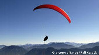 Paraglider near Ruhpolding