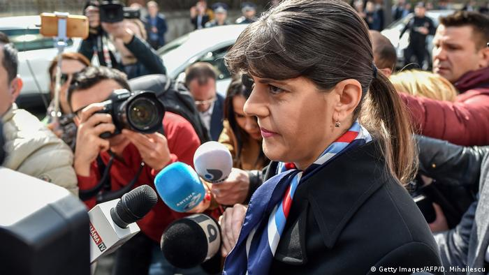 Rumänien Bukarest Laura Codruta Kövesi (Getty Images/AFP/D. Mihailescu)