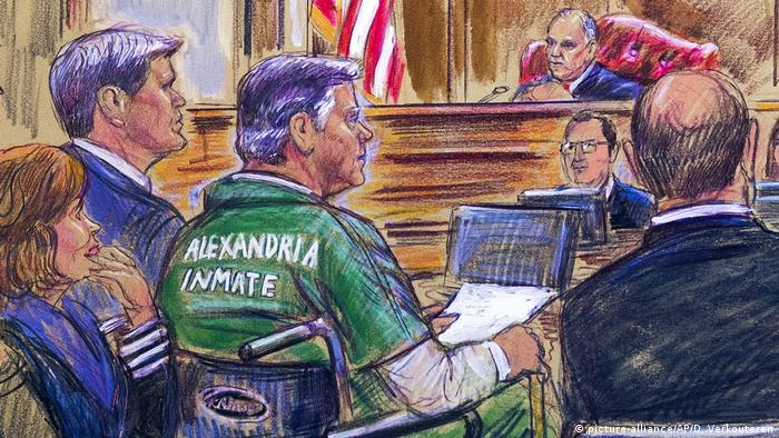 Paul Manafort sits in court in Alexandria, Virginia (picture-alliance/AP/D. Verkouteren)