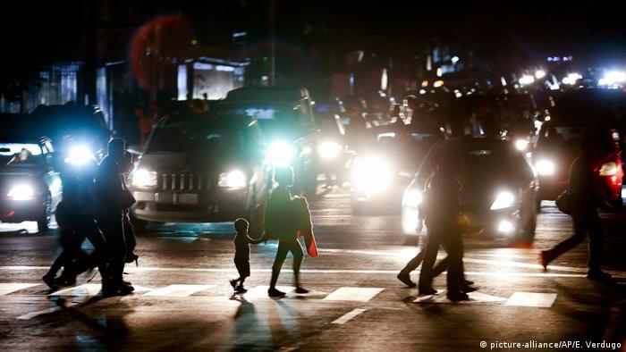 قطع برق در کاراکاس، پایتخت ونزوئلا، هفتم مارس ۲۰۱۹