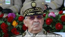 Algerien möglicher Präsidentschaftskandidat General Ahmed Gaid Salah (picture-alliance/AP Photo/A. Belghoul)