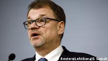 Finnland Regierungsrücktritt PK Ministerpräsident Juha Sipilä in Helsinki