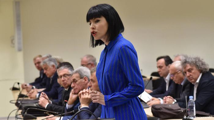 Nord-Mazedonien Justiz l Wahlmanipulation - Staatsanwältin Fatime Feta (Petr Stojanovski )