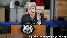 Großbritannien Grimsby - Theresa May hält Rede beim Orsted East Coast Hub