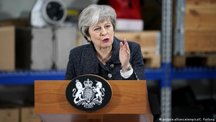 British Prime Minister Theresa May gives a speech in Grimsby, Lincolnshire (picture-alliance/empics/C. Furlong)